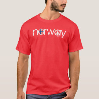 Norway Peace T-Shirt Red