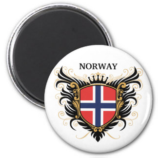 Norway [personalize] 2 inch round magnet