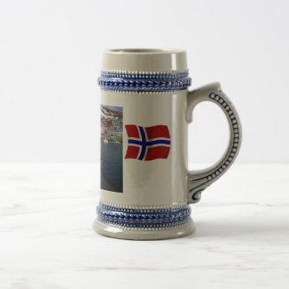 Norway, Port Authority vessel at the ready 18 Oz Beer Stein