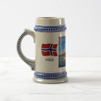 Norway,Port of Oslo; yacht marina, harbour Beer Stein