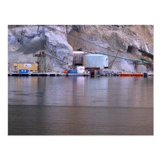 Norway, Quarrying in Bergen fjord Postcard