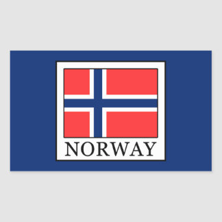 Norway Rectangular Sticker
