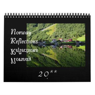 Norway Reflections Wall Calendar