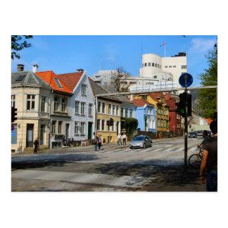 Norway,  Residential street in Bergen Postcard