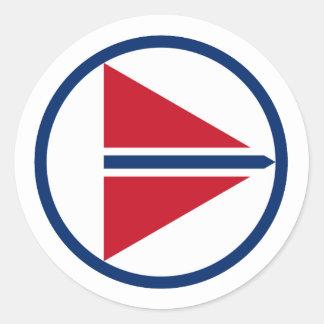 Norway Roundel Round Stickers