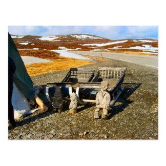 Norway, Sami settlement in Lapland Postcard