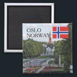 "Norway Scandinavia Oslo Vigeland travel souvenir Magnet<br><div class=""desc"">Norway Scandinavia,  Oslo Vigeland park,  norwegian flag,   travel souvenir</div>"