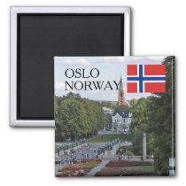 Norway Scandinavia Oslo Vigeland travel souvenir Magnet