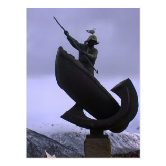 Norway, SCulpture of a fisherman Postcard