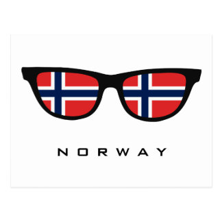 Norway Shades custom text & color postcard