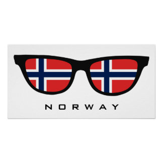 Norway Shades custom text & color poster