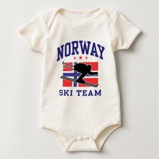 Norway Ski Team Baby Bodysuit