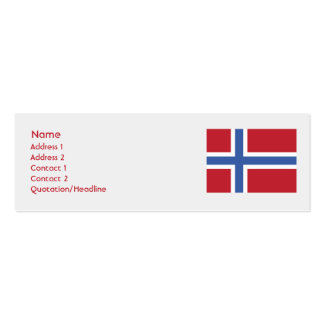 Norway - Skinny Business Card Templates