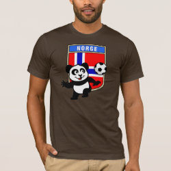 Men's Basic American Apparel T-Shirt with Norway Football Panda design