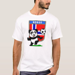 Men's Basic T-Shirt with Norway Football Panda design