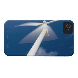 Norway, Sogn og Fjordane. Wind mill at Kråkenes. iPhone 4 Case-Mate Case