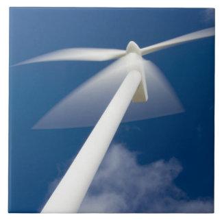 Norway, Sogn og Fjordane. Wind mill at Kråkenes. Tile