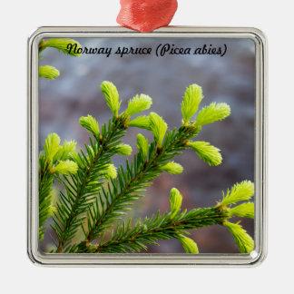 Norway spruce metal ornament