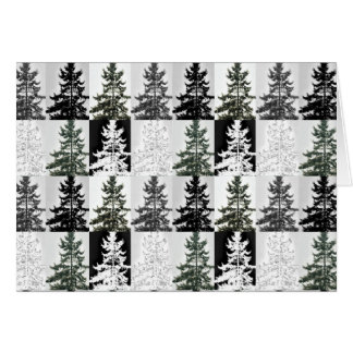 Norway Spruce Pine Tree Pattern Card