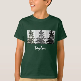 Norway Spruce Pine Tree Pattern Personalized T-Shirt