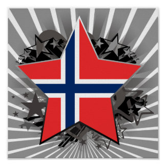 Norway Star Poster