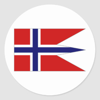Norway State Flag Round Stickers