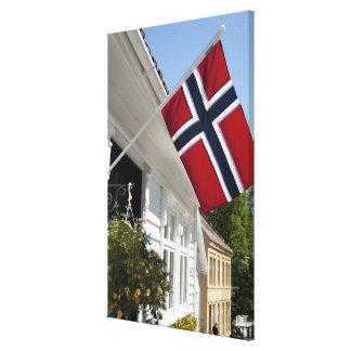 Norway, Stavanger. Historic downtown views. Canvas Prints