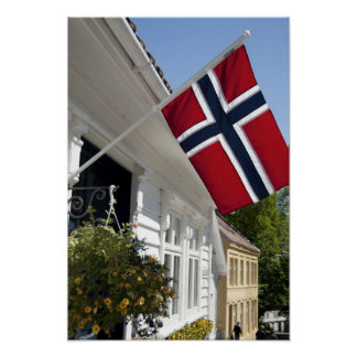 Norway, Stavanger. Historic downtown views. Poster