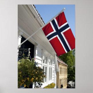 Norway, Stavanger. Historic downtown views. Print