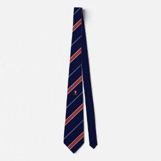 Norway stripes flag neck tie