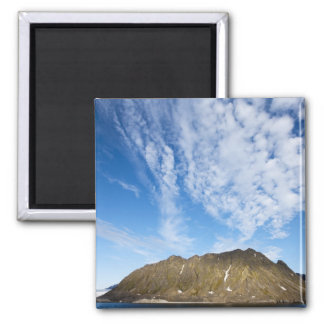 Norway, Svalbard, Clouds above steep cliffs 2 Inch Square Magnet