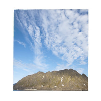 Norway, Svalbard, Clouds above steep cliffs Notepad