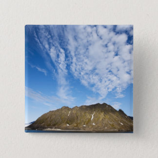 Norway, Svalbard, Clouds above steep cliffs Pinback Button