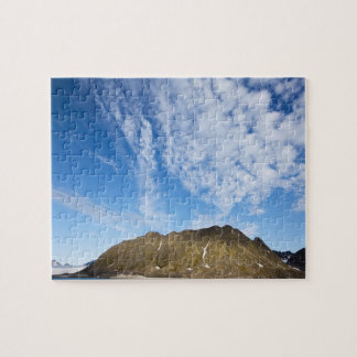 Norway, Svalbard, Clouds above steep cliffs Jigsaw Puzzle