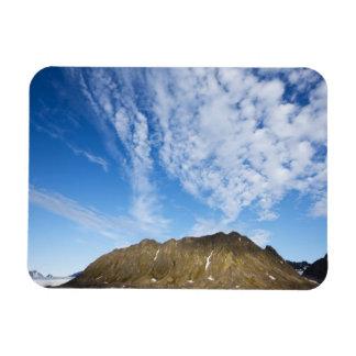 Norway, Svalbard, Clouds above steep cliffs Rectangular Photo Magnet