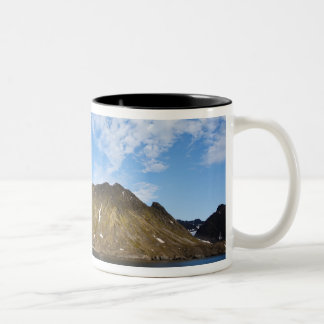 Norway, Svalbard, Clouds above steep cliffs Two-Tone Coffee Mug