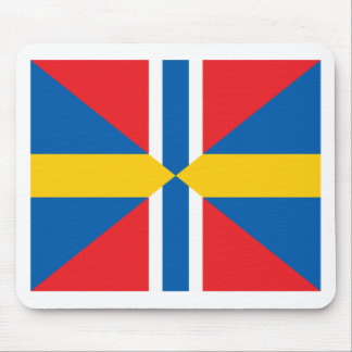 Norway Sweden Union Flag Mouse Pad