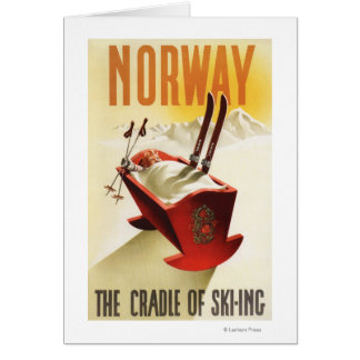 Norway - The Cradle of Skiing Card