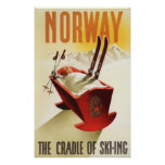 Norway - The Cradle of Skiing Poster