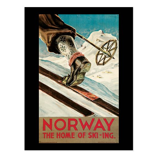 Norway The Home Of Skiing Postcard