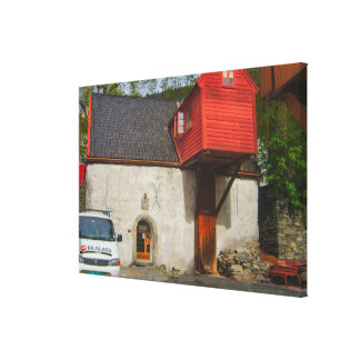 Norway, Traditional norwegian house Canvas Print