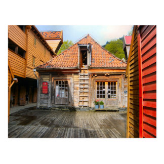 Norway, Traditional village wooden  houses Postcard