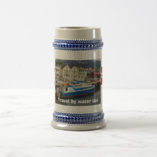 Norway, Travel by water taxi Beer Stein