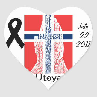 Norway Utoya Heart Sticker