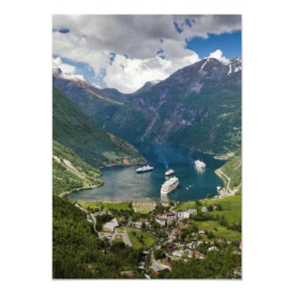 Norway view to Geiranger from Flydalsjuvet Card