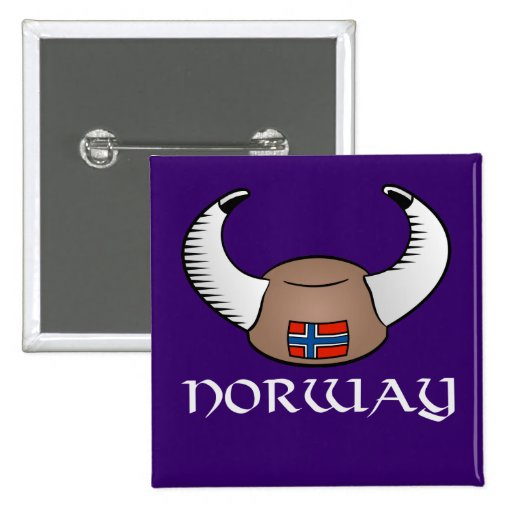 Norway Viking Hat Buttons