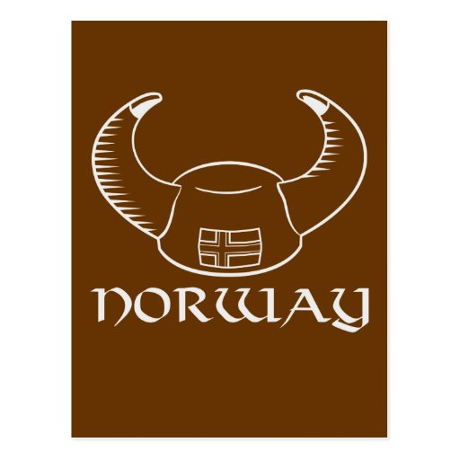 Norway Viking Hat Postcard