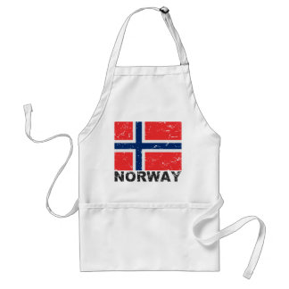 Norway Vintage Flag Adult Apron