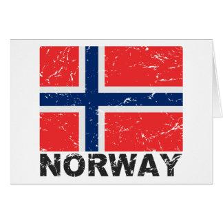 Norway Vintage Flag Card