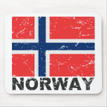 Norway Vintage Flag Mouse Pad